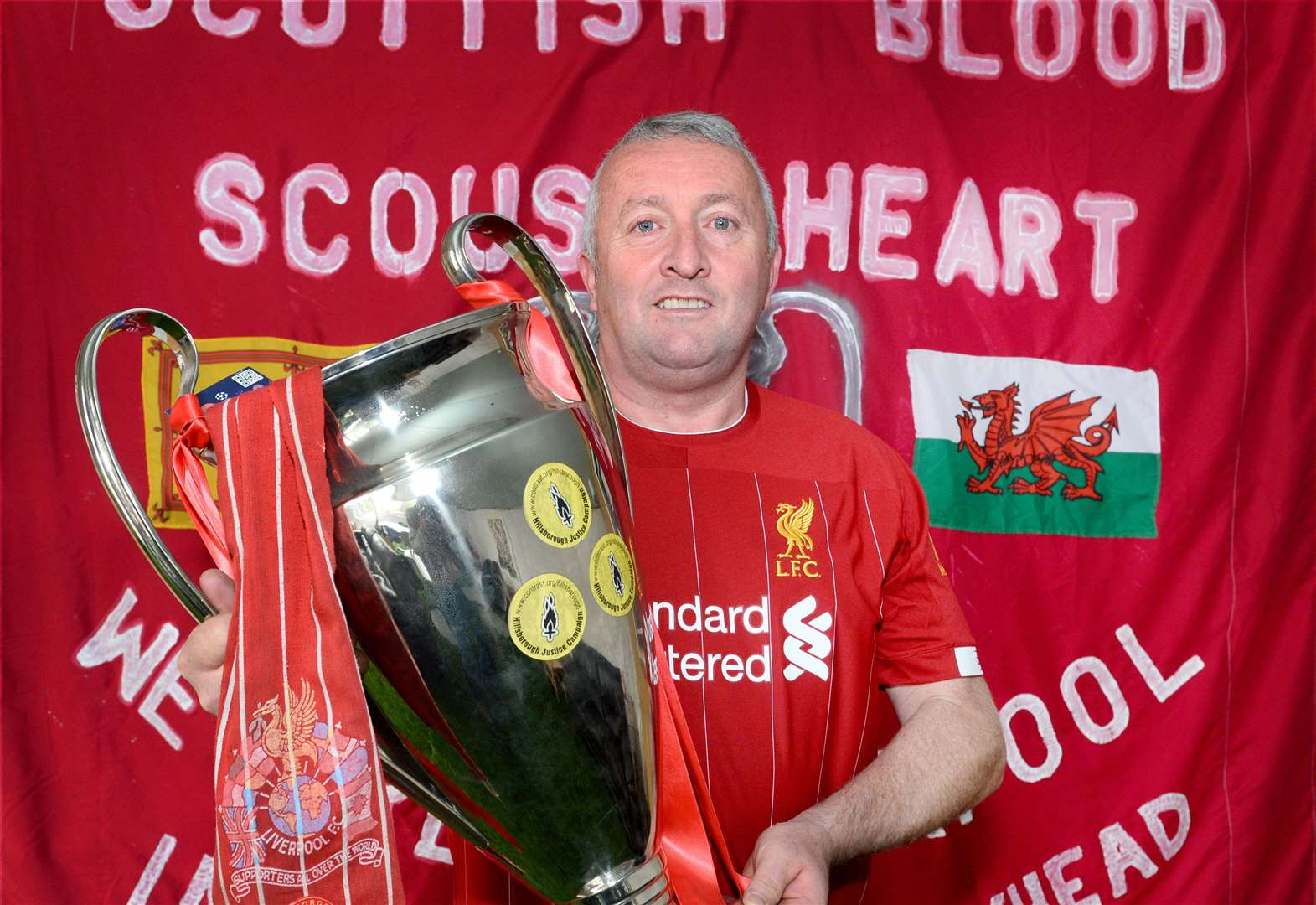 Kop that! Superfan Iain's off to Madrid