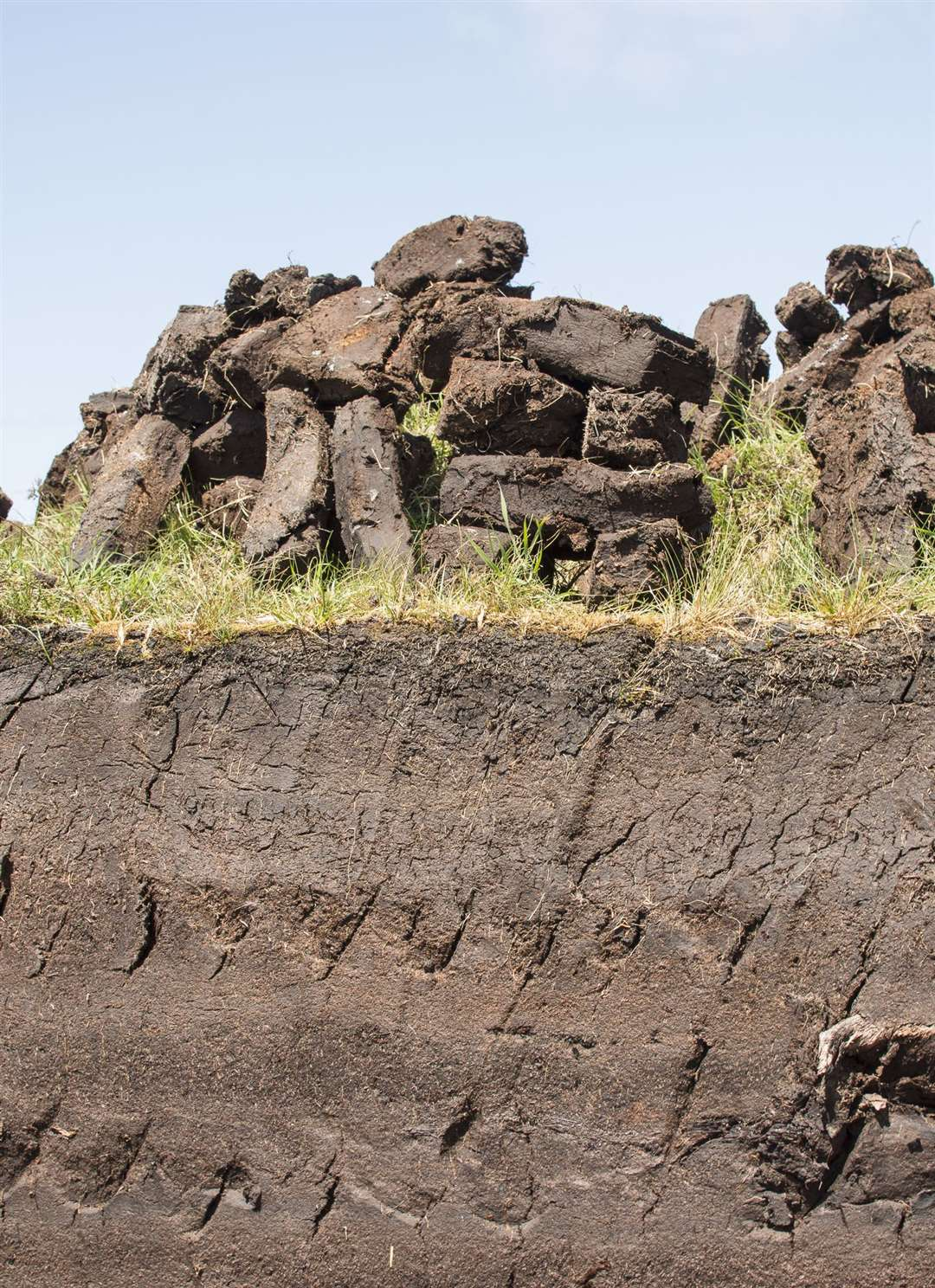 Peat is also dried to be used as a fuel. Picture: iStock/PA