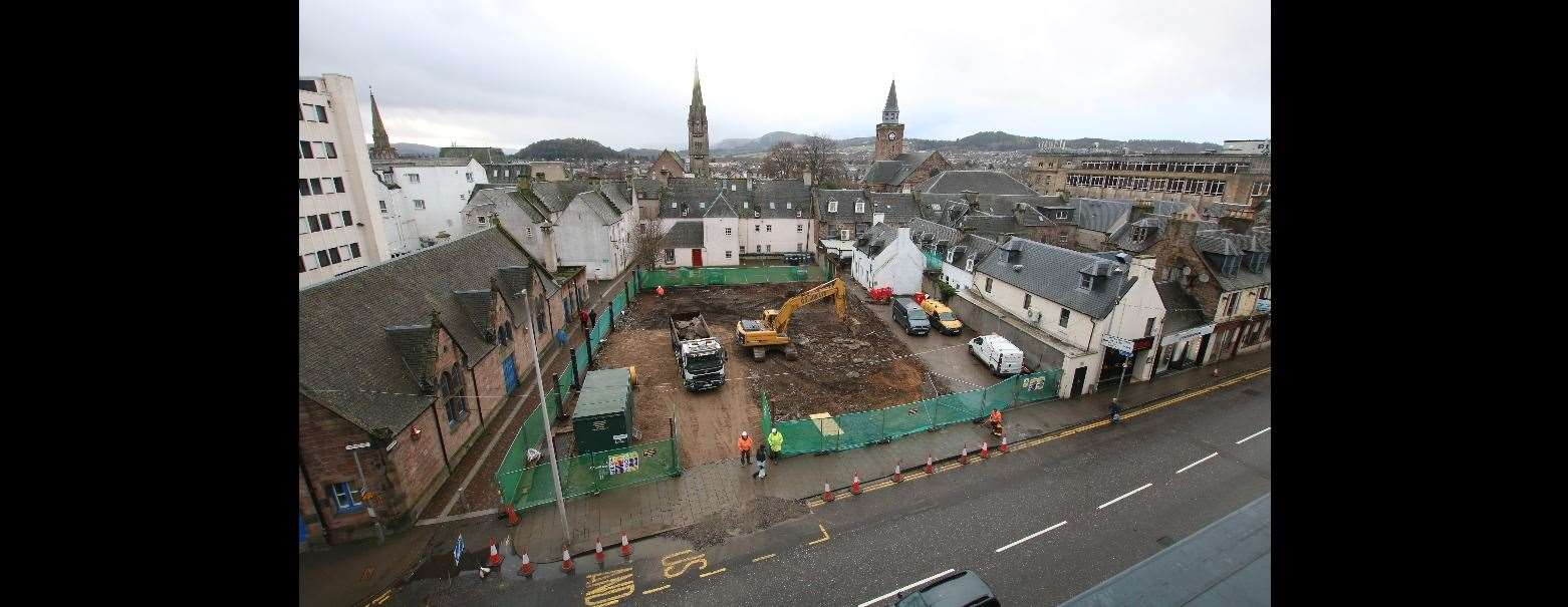 Morrison Construction is currently at work on a development on the site of the former Farmfoods supermarket in Academy Street, Inverness.