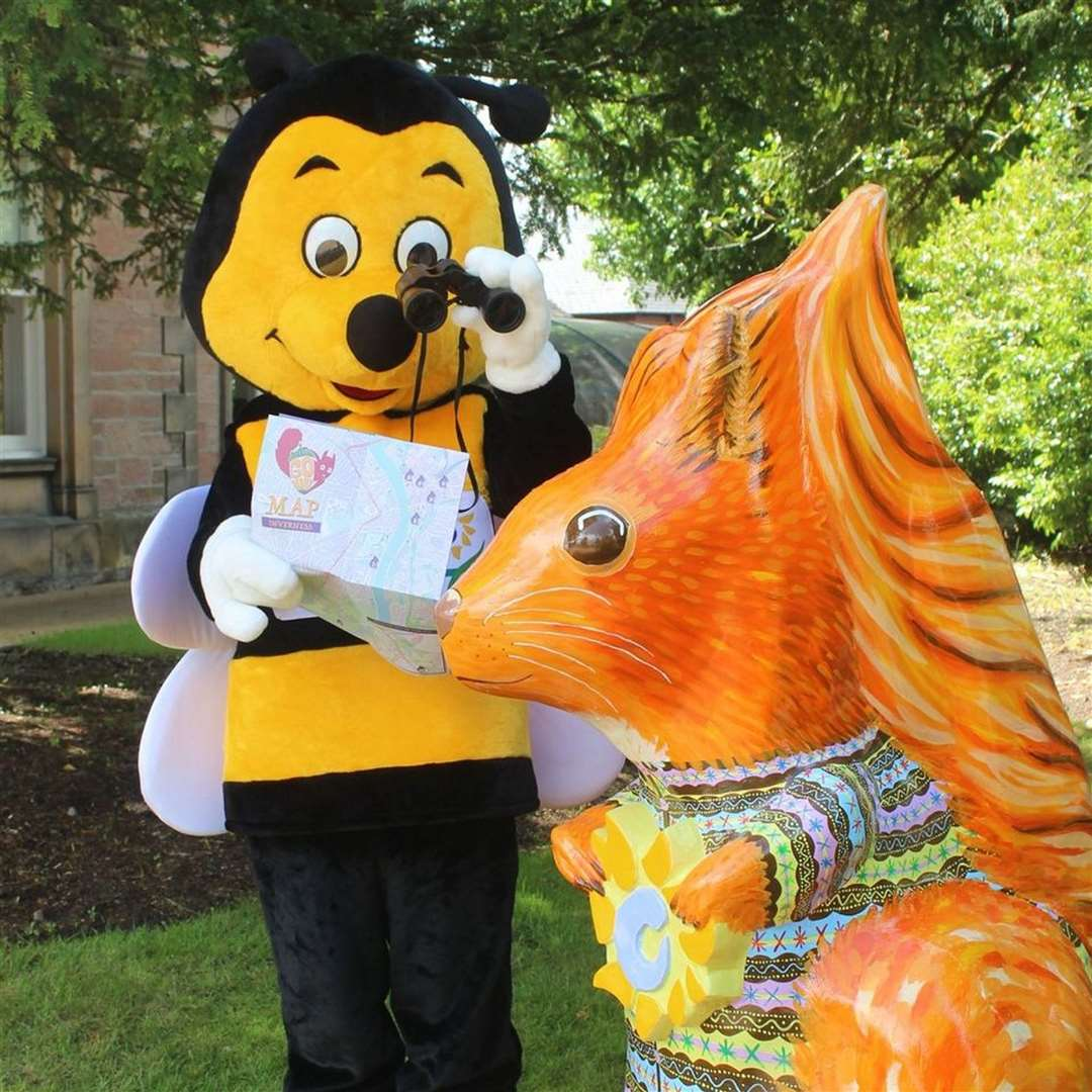 Highland Hospice mascot Bobby the Bee received a letter from the other side of the Atlantic requesting an autograph.