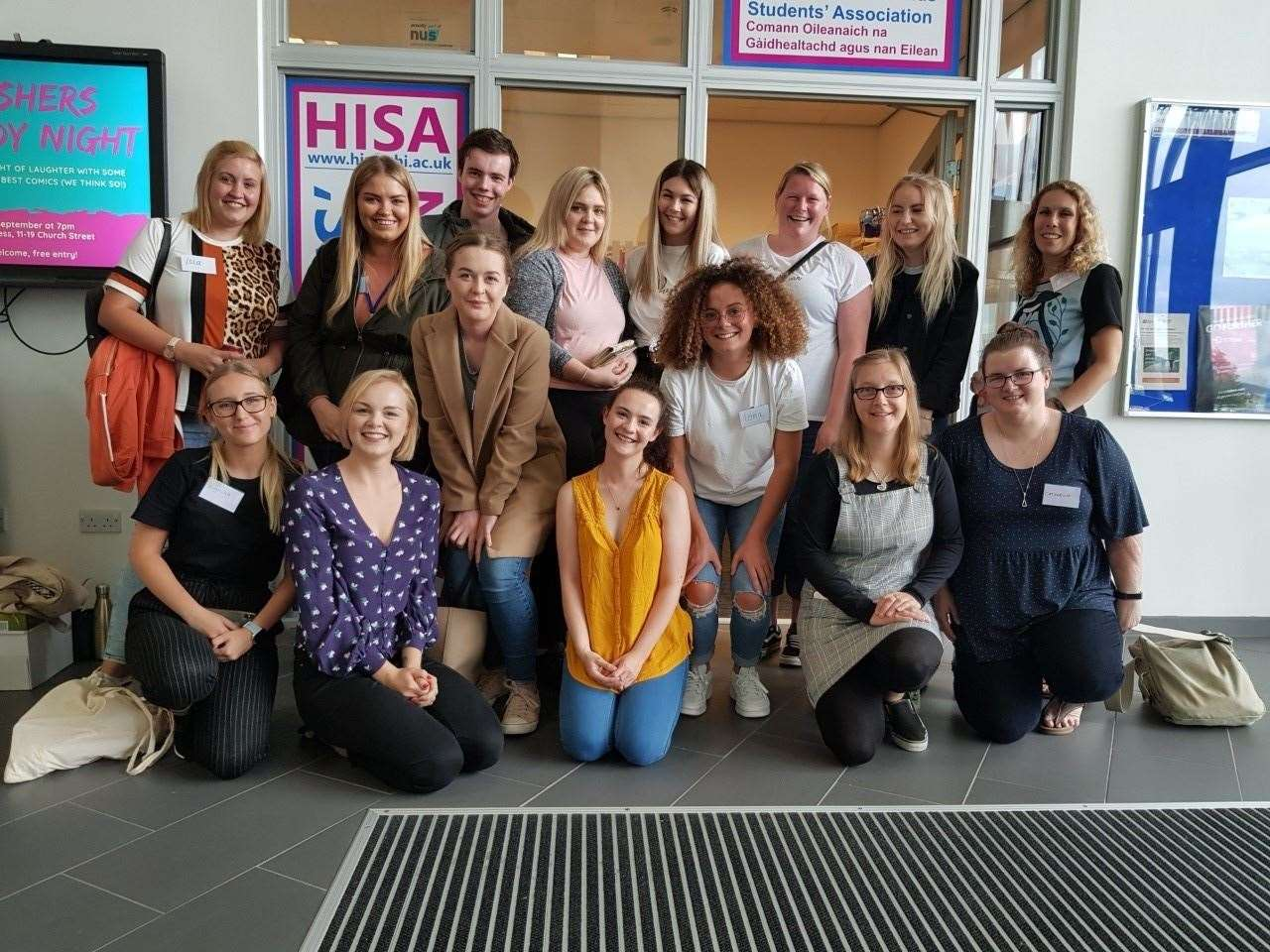 The new intake of graduate early learning apprentices at the University of the Highlands and Islands.
