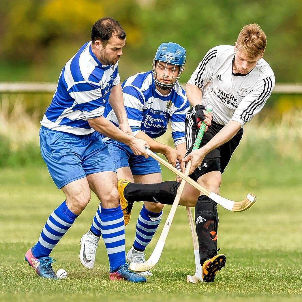 Lovat drew 1-1 at Newtonmore in the Camanachd Cup second round replay. Picture: Neil Paterson