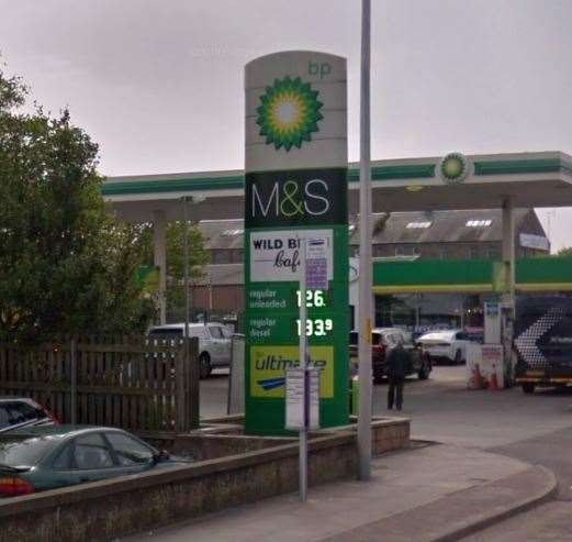 The BP garage in Longman Road.