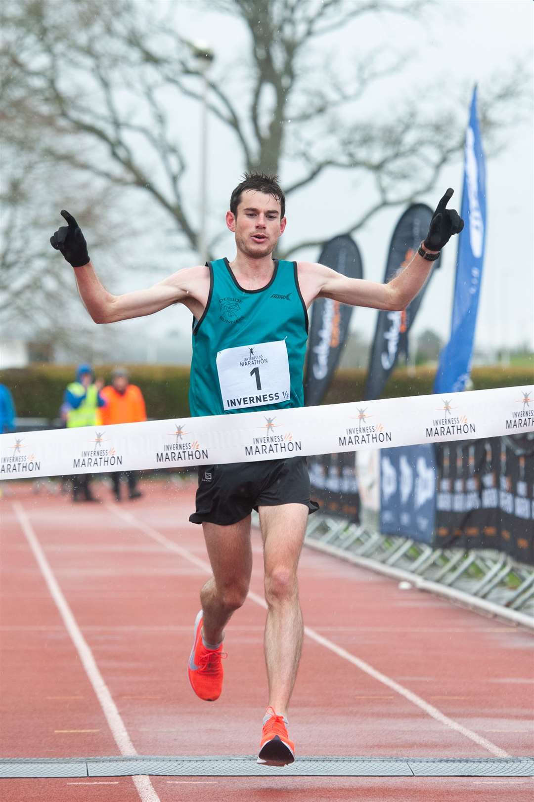 Robbie Simpson secured his third Inverness Half-Marathon win.