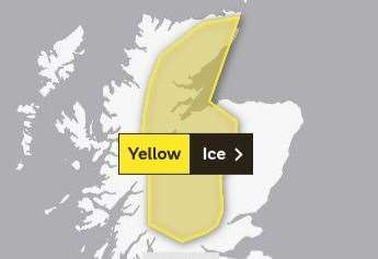 New yellow weather warning for ice and wintry showers issued by Met Office