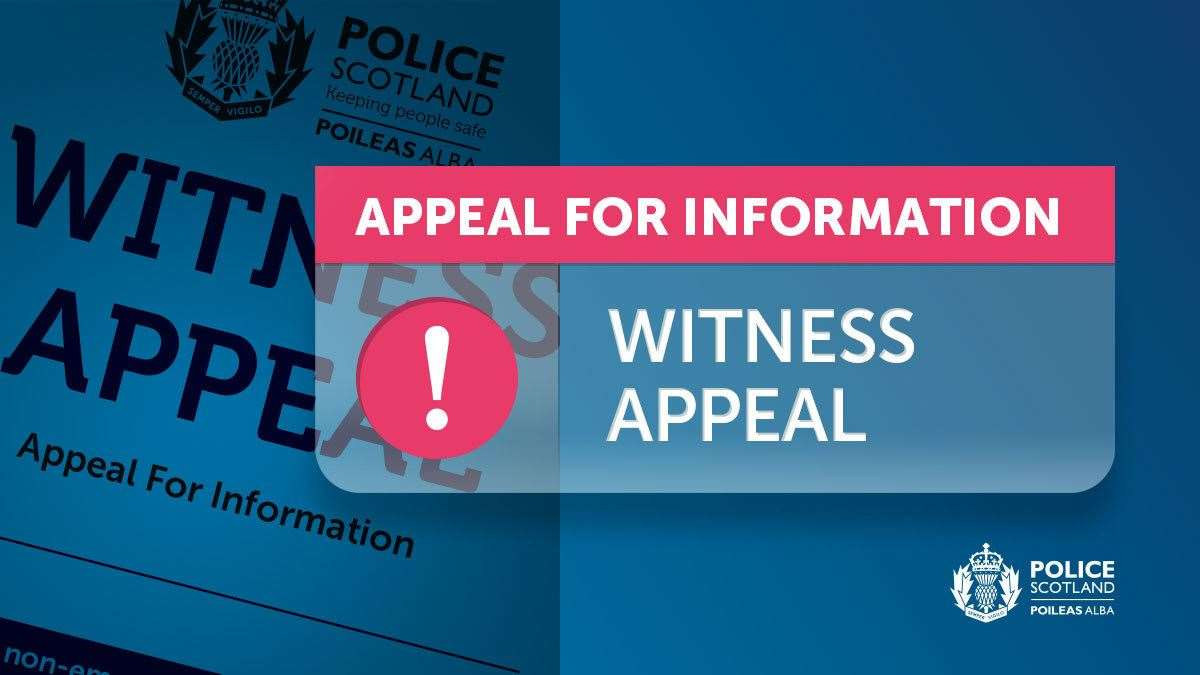 Police Scotland witness appeal.