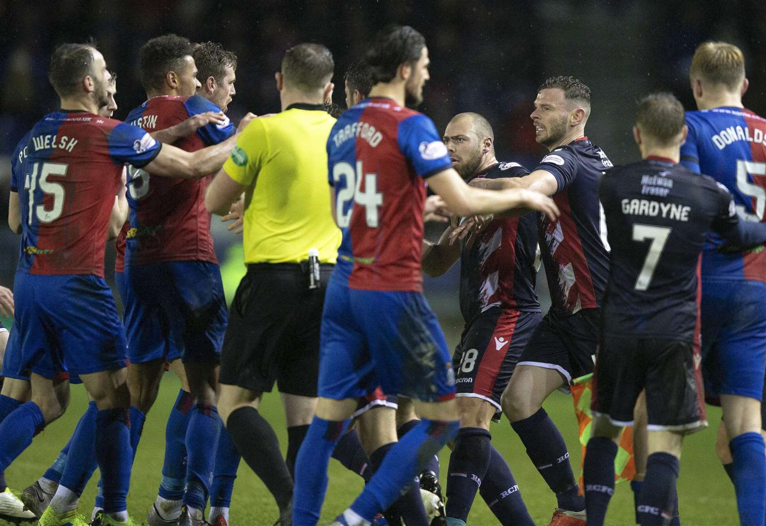 Inverness Caledonian Thistle and Ross County fined for Scottish Cup brawl