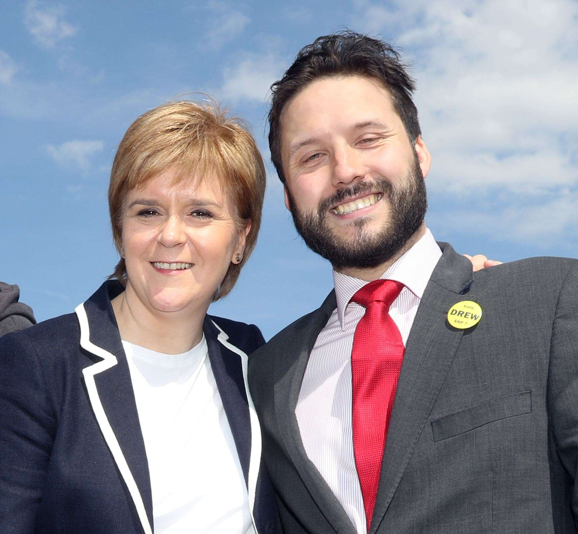 First Minister Nicola Sturgeon and Richard Laird.