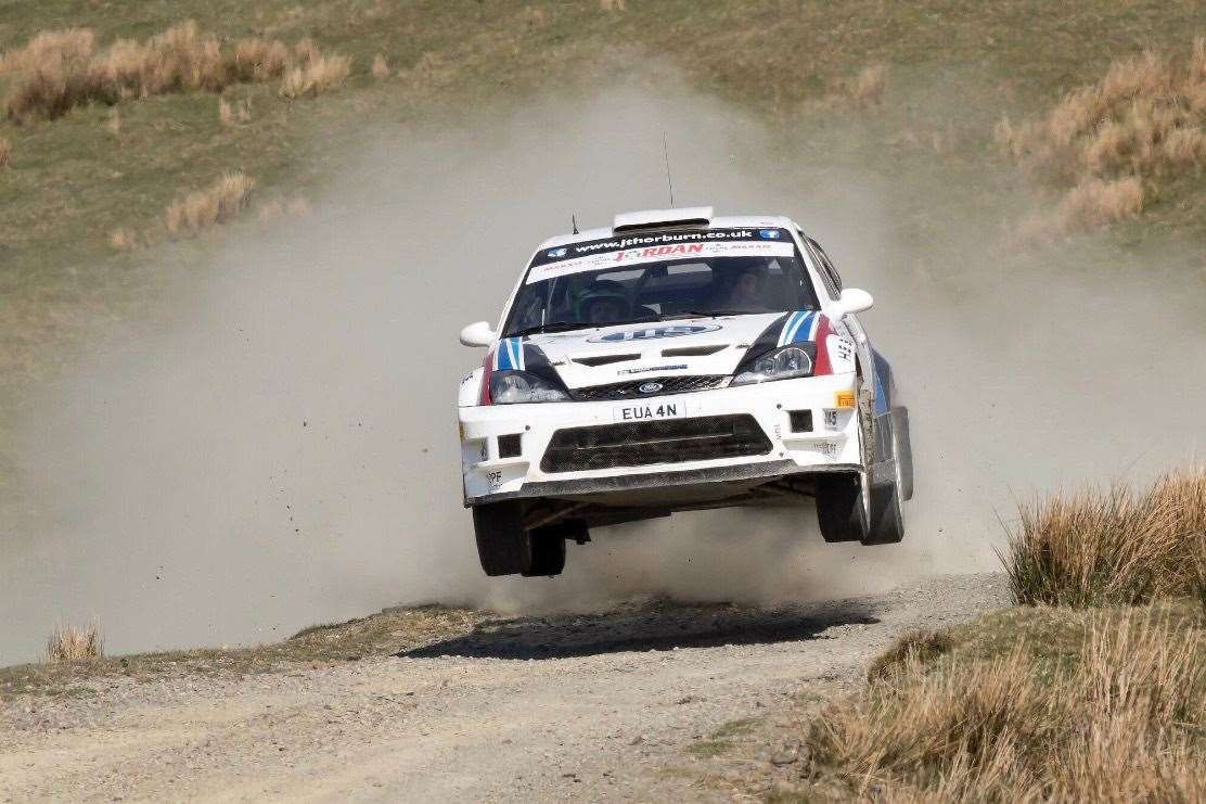 Paul Beaton and Euan Thorburn in action in their Ford Focus 05 WRC.