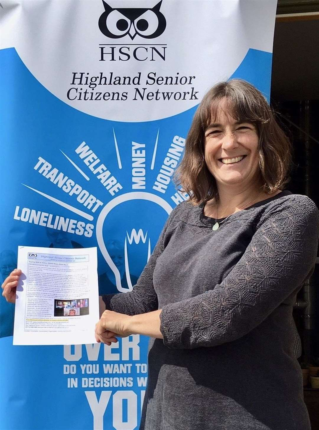 Anne McDonald of HSCN with the first newsletter.