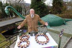 Willie Cameron celebrates Nessie's birthday with cup cakes.