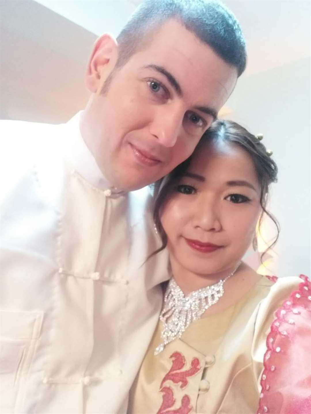 Ramsay and Pan Ei Phyu on their wedding day on February 4, 2018.