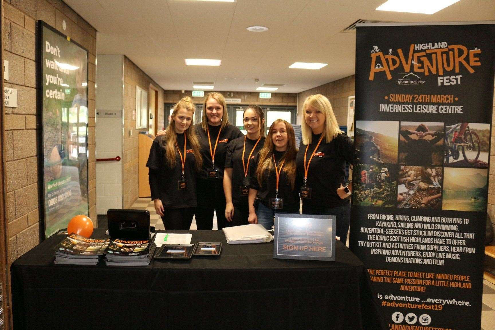 Organisers of Highland Adventure Fest, including Cecilia Grigor (right).