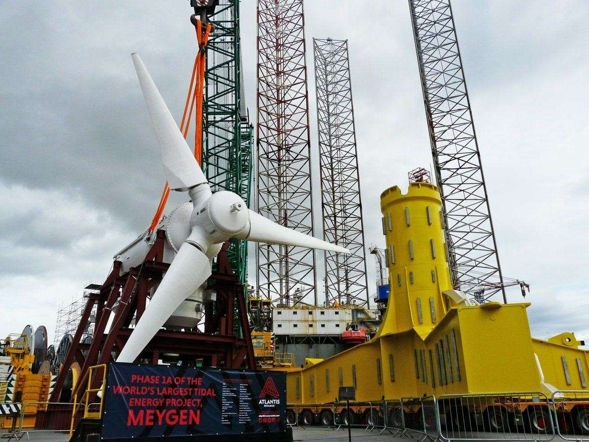 One of the MeyGen AR1500 turbines currently in use in the Pentland Firth.