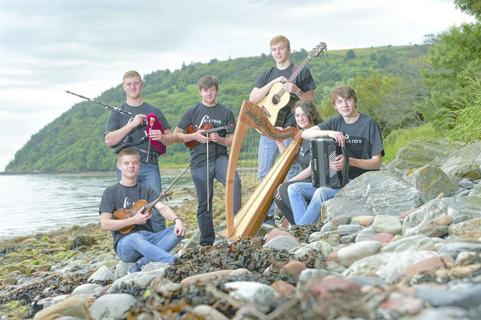 The talented young musicians on the Fèis Rois Ceilidh Trail tour the Highlands this summer. Picture: Ewen Weatherspoon