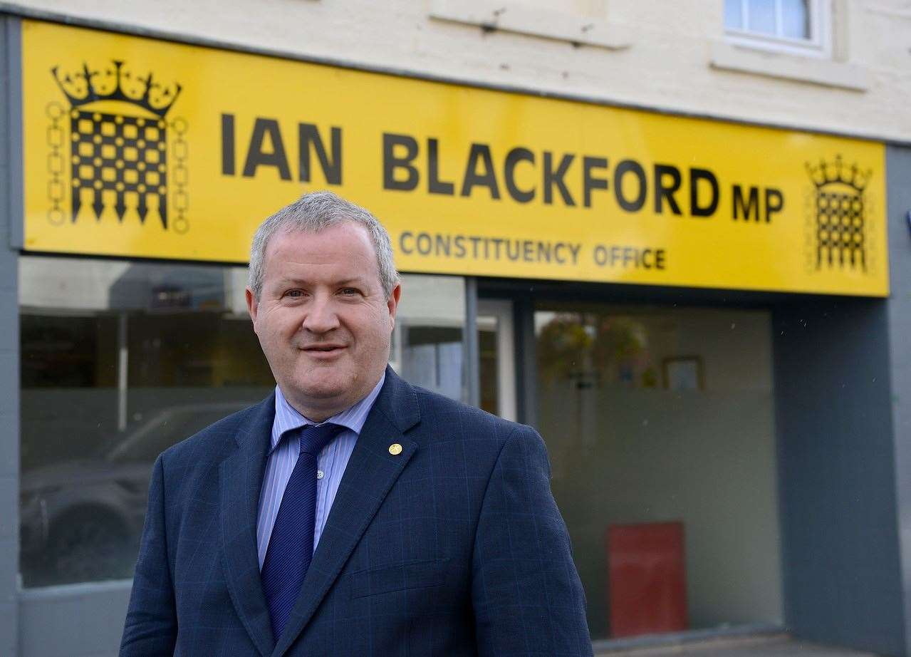 MP Ian Blackford at his constituency office in Dingwall.