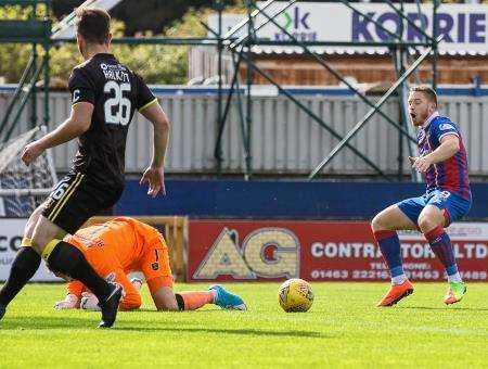 John Baird was part of the Caley Thistle side booed off on Saturday. Picture: Ken Macpherson.