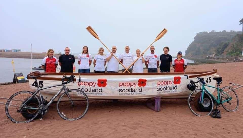 The Devon rowing team.